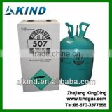 mixed 13.6kg/30lb disposable cylinder refrigerant gas R507