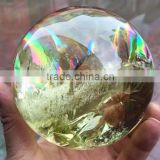 Amazing natural rainbow citrine quartz crystal ball/sphere for sale,crystal ball for decoration