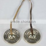 TIBBET MUSICAL INSTRUMENT/MANJIRA/MANJEERA/BRASS BELLS/ BRASS ANTIQUE FINISH / HANGING BELL