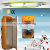 china suppliers standing solarium tanning machine/vertical tanning machine with germany uv lamps