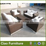 Villa rattan outdoor furniture patio wicker sofa sets Factory direct