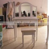 Elegant Wooden White Lacquer Bedroom Furniture K/D White Dresser For European Market T10-6113