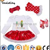OEM or Stocked hot sale organic cotton baby clothes baby hairband/baby romper/baby toddler clothing