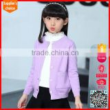 2017 korean style crew neck single breasted kids patterns sweater coat