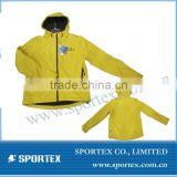 unisex yellow soft shell jacket