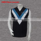 All black latest youth design wholesale sublimated football jerseys
