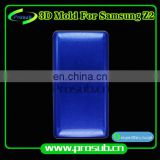 3Dsublimation smartphone cover aluminum injection mould for Prosub-Samsung Z2
