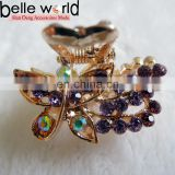 High Quality Butterfly Mini Rhinestone Hair Claw
