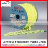 6mm luminous plastic chain/yellow plastic safety barrier chain