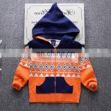 Hoodie design zipper Boys knitted cardigans for winter