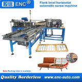 Flank level horizontal automatic screw machine for sofa shelf assembling only