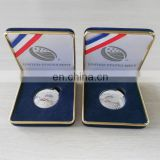 3D Rudby metal silver coin with luxury leather gift box