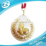 Custom Logo Cheap Souvenir Zinc Alloy Sports Running Award Commemorative 3D Gold Trophie Hanger Medal