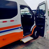 Electric step for motorhomes