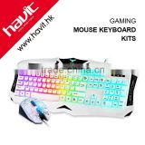 HAVIT 2-level high-strength supporting foot breathing light gaming keyboard and mouse kits