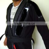 Customized BJJ Gis with contrast stitching, drawstring, loops, side vents (Red, White, Blue, Black, Navy Blue,Pink)