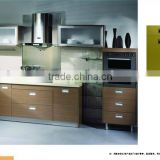 Excellent melamine kitchen cabinet,flat pack kitchen cabinet,Knocked down kitchen cabinet