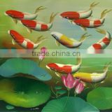 Artwork impressionist oil painting on canvas red fish 50*60cm JH-284 wholesale cheapest 2014 new factory direct