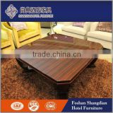 High quality living room furniture wood veneer low centre table Foshan Shangdian Factory                                                                                                         Supplier's Choice