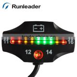 12V LED Lead-acid Battery Status Indicator Battery Meter for Motorcycle Go Kart