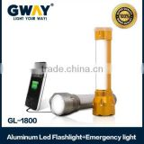 1W LED spotlight+8pcs Emergency flashlight,portable rechargeable led emergency lamp for camping