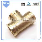 Plumbing pipes fittings 2 inch female copper/brass tee