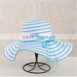 QXSH0053A Hot floppy straw hat for women Rope bowknot strip summer beach hat panama