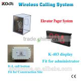 elevator call buttons for construction site wireless call button system for emergency lift call bell