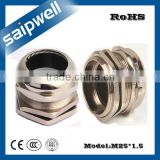 SAIPWELL M25*1.5 Newest Electrical Accessory Waterproof Brass Plating Nickel Cable Gland