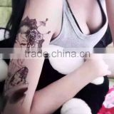 Men Body Tattoos Flash Waterproof Disposable Golden Tattoo Sticker Water Transfer Temporary Tattoo Wholesale Customized