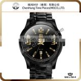 Black acetate army watch swiss military watch manufacturer stainless steel watch case water resistant