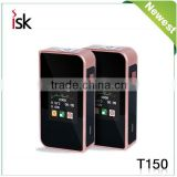 Sigelei T150w wholesale Tc box mod ecigs touch screen sigelei t150w temp control boxmod with 18650 battey with xtank