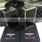 Snowwolf mini 90w vapor pipes with 18650 high-drain battery Temperature Control e-cig artery vapor mini nugget box TC Mod Box