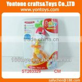 plastic funny toy baby rattle set