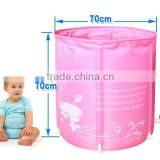Eco-friendly top nylon cloth pink princess stylescaffolding baby swimming pool European Standard -12