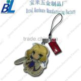 Fashion metal cartoon solider diy cell phone strap drop ornament