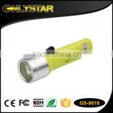 Onlystar GS-9018 1W led scuba diving flashlight torch underwater submarine light waterproof diving torch                                                                                                         Supplier's Choice