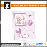 Beautiful Cardboard Paper Baby And Babyprints Single Aluminum Picture Frame
