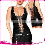 Black & Red Full Body Slimming Leather Shaping Corset
