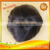 Wholesale Grade 5A Nature Color 8x6'' Indian Virgin Remy Hair Wig Straight Hair Toupee Mens Hair System