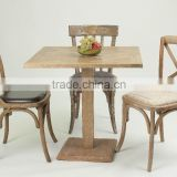 Antique Square 80x80cm with Square base Wooden Four-person coffee table /Restaurant table/ dining table(DT-1007-OAK)