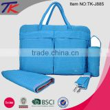 2015 Wholesale Diaper Bags 3 in 1 with Insulated Bottle Bag