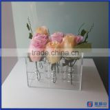 Manufacturer supplier customized acrylic flower display box / high quality acrylic flower display case