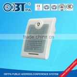 10w ABS pa system wall mounted speaker, audio music system speaker for classroom, car parking, basement, staircase