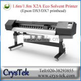CRYSTEK Xenons 1.8m 1.6m eco solvent printer digital inkjet printing machine