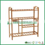 plain style bamboo shoe rack for home, 4 layers from fuboo                                                                         Quality Choice