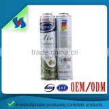 Cmyk Print Empty 65*120 Air Freshener Aerosol Tinplate Empty Spray Cans With Different Sizes