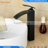 Black Oil Rubbed Bronze Finish Single Handle Single Hole Bathroom Waterfall Basin Mixer Vessel Faucet Tap