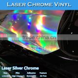 CARLIKE 1.52x20M Shiny Tinted Laser Chrome Holographic Rainbow Film Foil For Car Wrap Vinyl