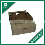 CORRUGATED CARDBOARD SHIPPING BOX FOR FRUIT AND VEGETABLES SHIPPING TRAY WHOLESALE